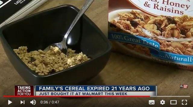食べたシリアルの賞味期限が1997年だった…っていう事件がアメリカで発生 / 変な味がするも幸いなことに無事
