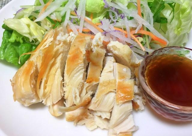 【簡単レシピ】焼いたサラダチキンにハチミツをかけて食べると激ウマ / さらにマスタードを混ぜると超ヤバイ