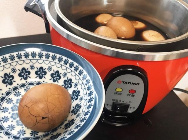 『大同電気鍋』で台湾名物「茶葉蛋(チャーイエダン)」を作ってみた! → 基本放置でOK、ただし家中が台湾コンビニ臭になった / 大同電鍋記:第4回