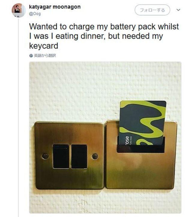 【ライフハック】海外女子が披露した「ホテルから外出している間も電気をオンにしておく方法」がSNSで話題