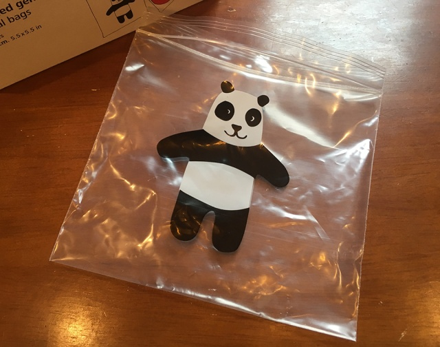 【200円】フライングタイガーで売ってる「パンダ柄のジッパー付き袋」は可愛すぎるのでズバリ買いでしょう〜