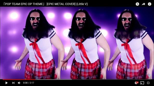 ゴリゴリの外人がセーラー服を着て『ポプテピピック』のOPを熱唱する動画がヤヴァイ