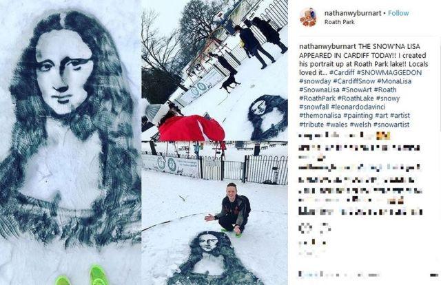 ある海外アーティストの「雪に描いた作品」が超クール! すぐに解けちゃうキャンバスを選んだ理由も芸術家らしくてカッチョいいぞ!
