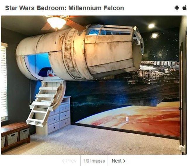 あるパパが『スター・ウォーズ』ファンの息子に作った部屋がスゴい! ミレニアム・ファルコンを再現していて映画のセットみたい!!