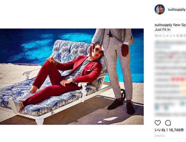 海外スーツメーカーが『ラブラブな男同士の写真』を広告に使用してネット民がザワつく → インスタフォロワーが1万人減少