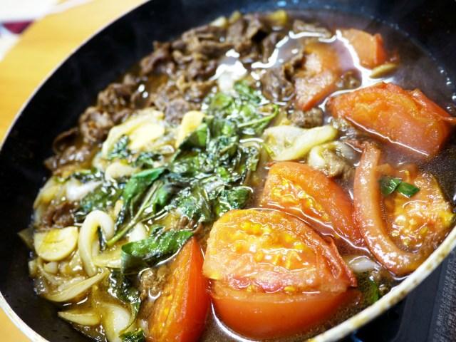【激ウマ】すき焼きにトマトとバジルを投入!『ゆるキャン』レシピ「トマトすき焼き」を作ってみた結果 → 反則だろコレ……