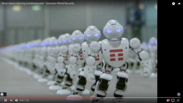 【シンクロ率100%】1372体ものロボットが同時にダンスを踊ってギネス記録を更新