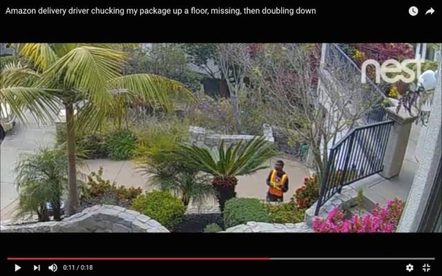 防犯カメラは見ていた! Amazonの悪質すぎる配達がこちらになります
