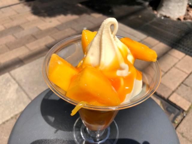 【ミニストップ】「アップルマンゴーソフト」にマンゴー入りすぎ! タイのマンゴー農家が消滅しかねないレベル!!