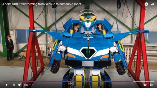 【動画あり】2人搭乗型の変形ロボ「J-deite RIDE」をソフトバンクグループなど3社が公開! 人型と車型に変形可!! トランスフォーマーかよォォォオオオ!