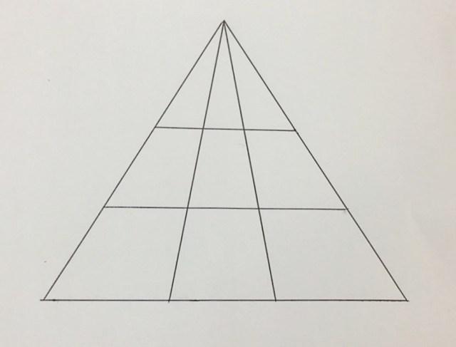 「この中に三角形はいくつある?」との問題が意外に難しいとSNSで話題に! あなたは分かるかな!?