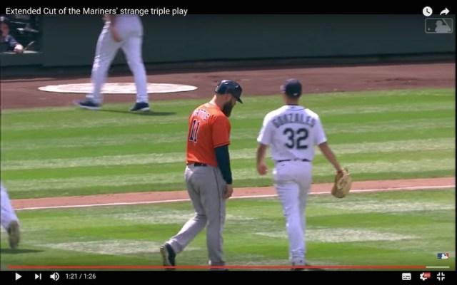 【珍プレー】メジャーリーグで本当にあった『世にも奇妙なトリプルプレー』にネット民驚がく「こんな事あります?!笑 」