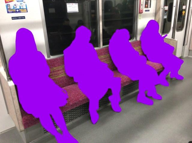 【体験談】満席の電車でなぜか1つだけガラ空きの座席が → 近づいてみると納得の状況だった