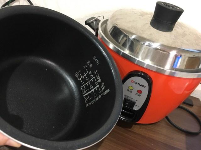 台湾の神家電『大同電気鍋』の内釜を手持ちのテフロン鍋にしてみたらメチャ便利! でも故障の原因にならないか心配…大同日本に聞いてみた / 大同電鍋記:第5回