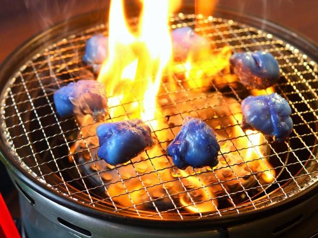 【狂気】京都の焼肉屋さん、W杯を記念して「青いホルモン」を発売してしまう