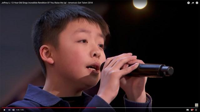 【天使の歌声】13歳の少年が歌い上げる『You Raise Me Up』に全米が震えた!! 美しすぎる歌声に会場はうっとり