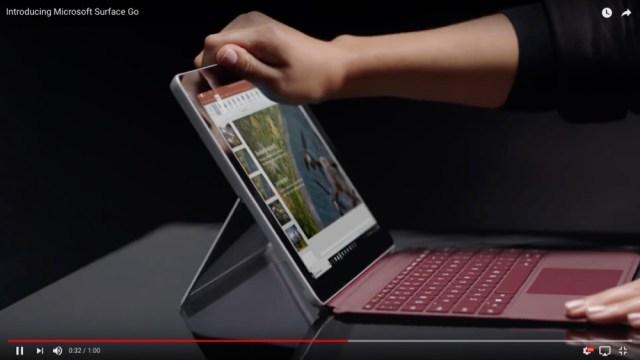 ついにキターッ!! マイクロソフトがお手頃価格の新型タブレットPC『Surface Go』を発表! 価格は399ドル(約4万4000円)から