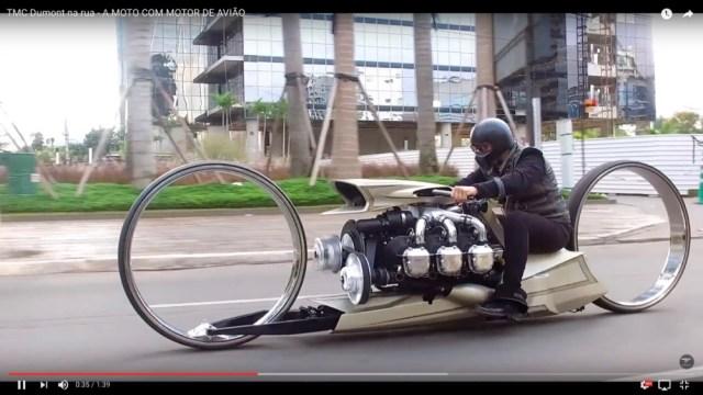 航空機用エンジンをバイクに搭載! カスタムマシン『TMC Dumont』の未来感がスゴすぎる