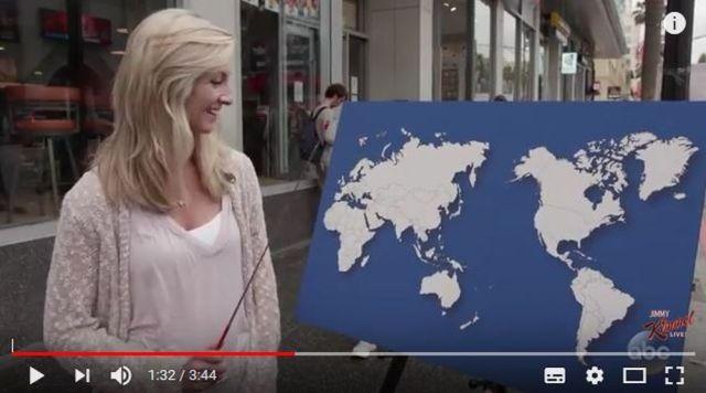 「アメリカ人に世界地図を見せて地理の質問をした結果」が酷すぎた…って動画 / 母国の場所が分からない人も!