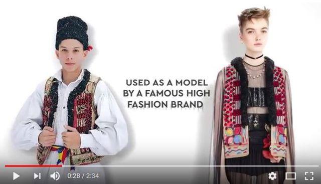 ディオールがルーマニアの民族衣装をパクり!? デザインが酷似していると話題