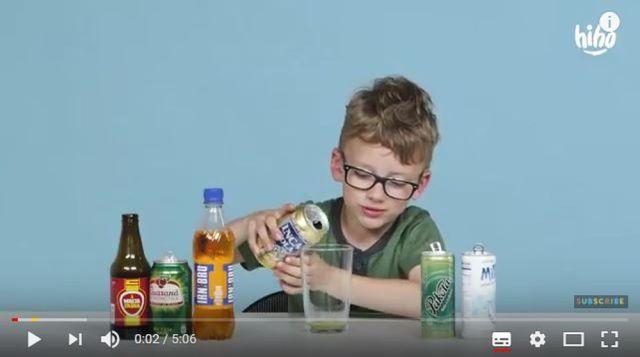 炭酸飲料が大好きな米キッズに「世界各地のソーダを飲ませたらこうなった」って動画 / こどもビールのようなドリンクも登場!