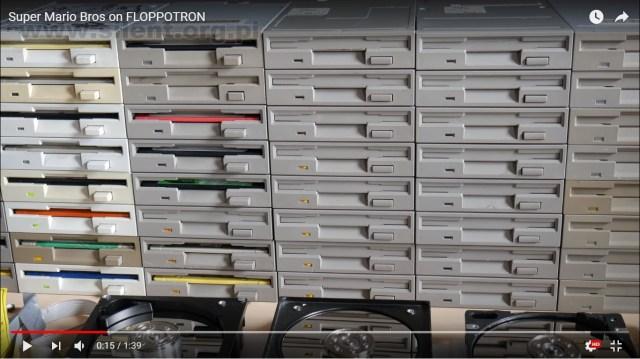 【狂気】『スーパーマリオ』のBGMをPC機器の作動音だけで再現! フロッピーディスク64台などをプログラミングで演奏する動画が狂気しか感じない