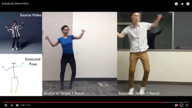 カリフォルニア大の研究者らが開発した「プロ級のダンスをド素人に踊らせられる映像技術」がマジでスゴい