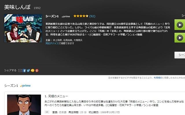 【真剣コラム】お盆休みに「Amazonプライム」で見るべき作品はアニメ『美味しんぼ』だ! 異論は認めない!!