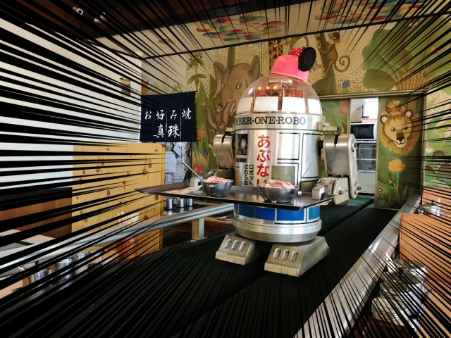 【ウソだろ】約40年前からロボットがバリバリ働くお好み焼き屋さんに行ってきた / 岡山市『真珠』