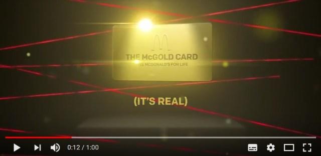 【ヤバい】米国マクドナルドさん、50年間週2回使える「マックゴールドカード」を誕生させてしまう