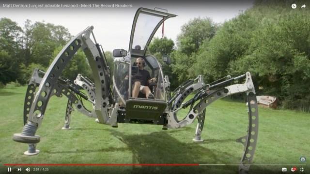 スター・ウォーズ「BB−8」の製作スタッフが開発した『巨大ロボット』がカッコイイ! 6脚で人が搭乗可能!!