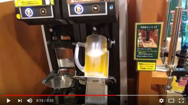 日本の『自動ビールサーバー』の動画に海外ネットユーザーがビックリ!「これはスゴい!」と話題に
