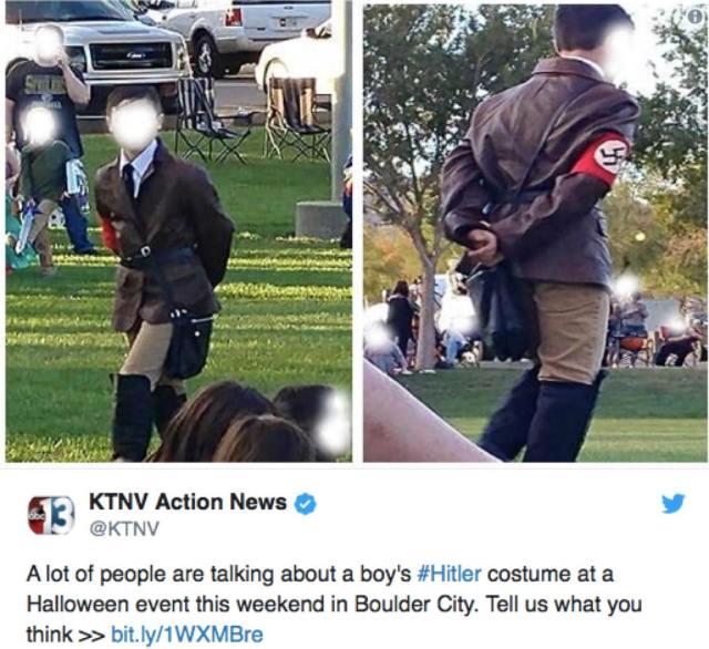 ハロウィンで子供に「ヒトラーの格好」をさせた母親の説明に非難殺到 / 母親「あり合わせのものを着たらヒトラーになった」