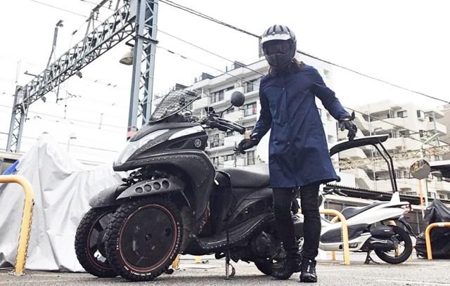 【ユニクロ】こういう季節にサラッと着れる「ブロックテックステンカラーコート」が私の最近のお気に入り / 雨も風も通しにくいからバイク通勤にも最高!