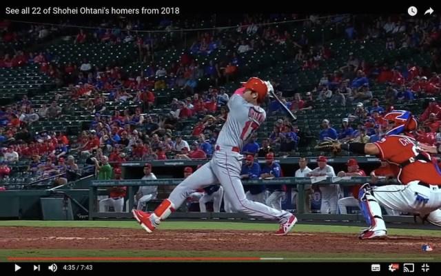 【異例の対応】MLB公式も舌を巻いた! 2018年の大谷翔平ホームラン集