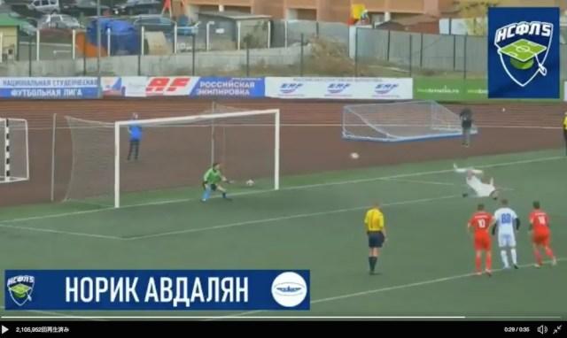 ロシアの選手はんぱないって。PKはんぱないって。バク宙しながらめっちゃボール蹴るもん。そんなんできひんやん、普通…そんなんできる?