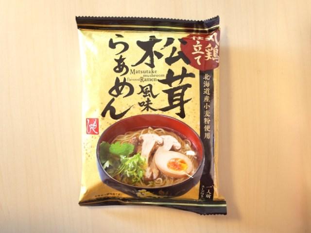 【カルディ】183円の即席麺『松茸風味らぁめん』で松茸風味を存分に味わってみた / 乾麺はまるで生麺のような食感