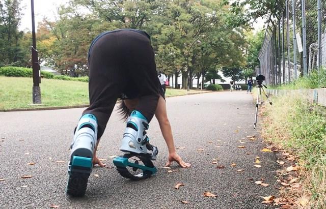【ドクター中松検証】車や自転車に代わる移動手段『スーパーピョンピョン』は早く走ることができるのか? 50メートルを全力ダッシュしてみた!