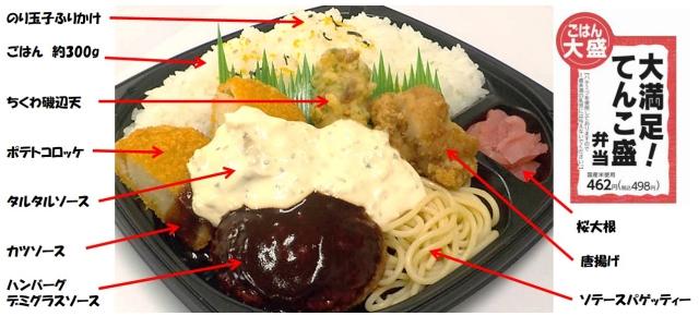 ファミマさん、世間の健康志向にケンカを売っていくスタイル /  関西限定の新商品「大満足! てんこ盛弁当」のボリュームがヤバそう