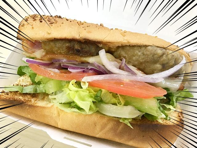 """【贅沢】サブウェイ史上最高金額の『金格DX(デラックス)』を食べてみた! 有名店の  """"本気ハンバーグ"""" がたっぷり2個入ってるぞ!!"""