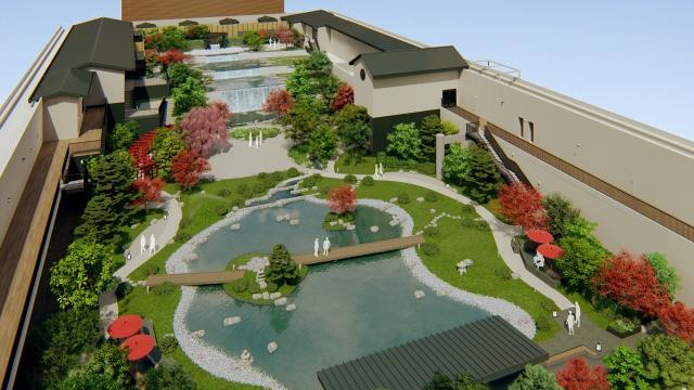 """【何それ行きたい】大阪ベイエリアにオープンする  """"温泉テーマパーク"""" がヤバそう! 安土桃山時代がコンセプトの「空庭温泉」"""