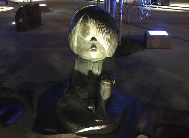 【普通に怖い】鳥取県境港市の「水木しげるロード」が夜間ライトアップ演出を始めたよ!
