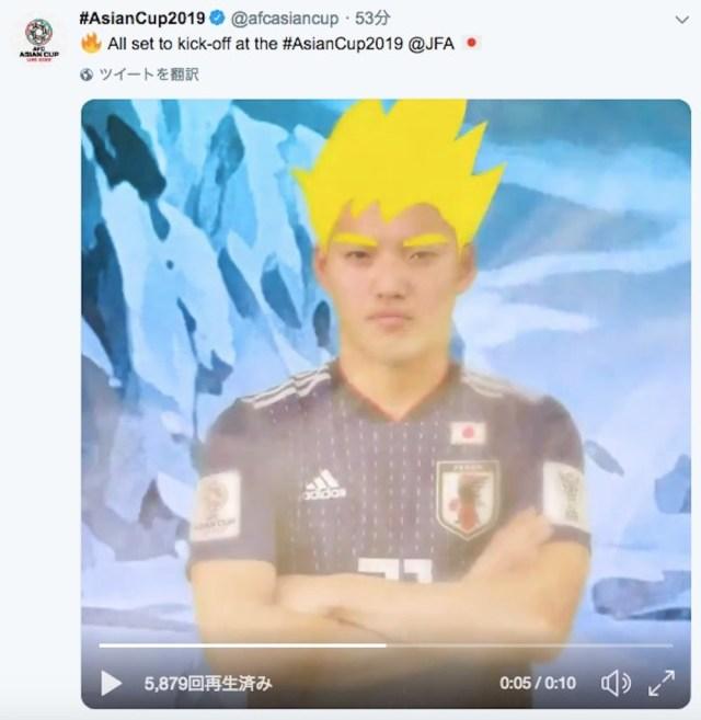 【アジアカップ2019】堂安律選手、公式でスーパーサイヤ人になる