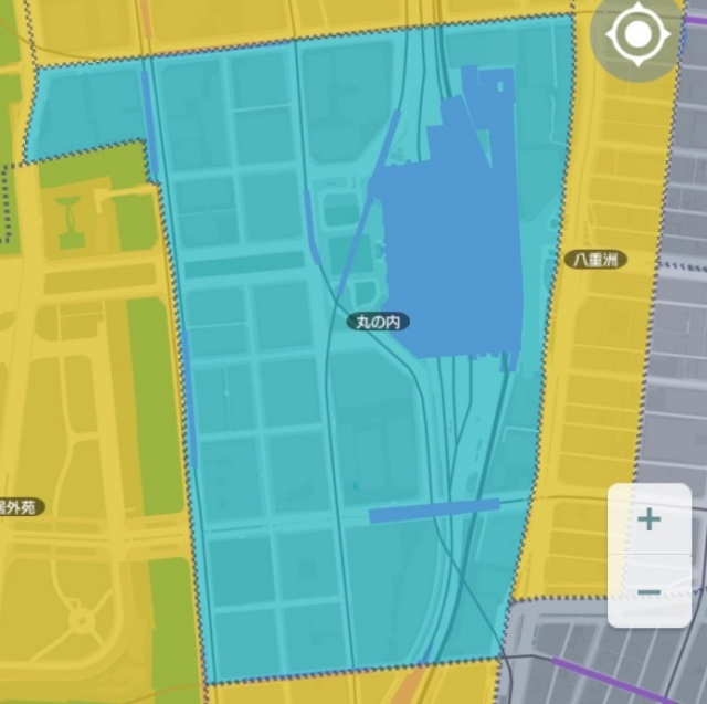 【力技で解決】スマホゲーム『テクテクテクテク』で街区が100%塗れないときの対処法その1:丸の内・日比谷公園篇 / 超初心者向け