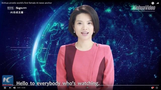 中国で「女性AIアナウンサー」が爆誕! パッと見、本物の人間と見分けがつかないレベルの完成度