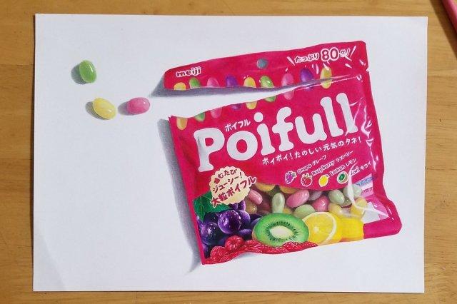 【天才現る】高校2年生作「色鉛筆で描いたお菓子」が写真にしか見えない