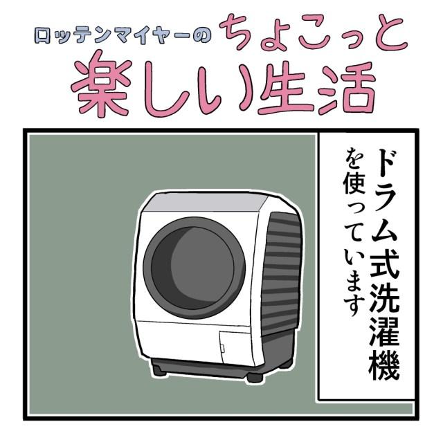 【4コマ】第30回「ドラム式洗濯機、間違って使ってました」ロッテンマイヤーのちょこっと楽しい生活