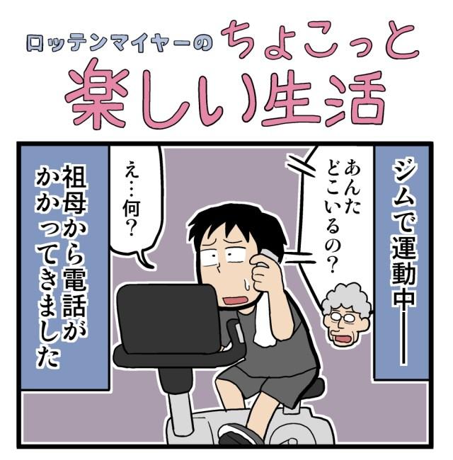 【4コマ】第32回「ご連絡は計画的に!」ロッテンマイヤーのちょこっと楽しい生活