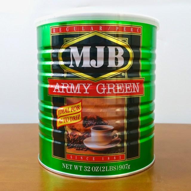 カルディで発見! 超デカい缶に入った格安コーヒー『アーミーグリーン』と定番の「キーコーヒー」を飲み比べてみた