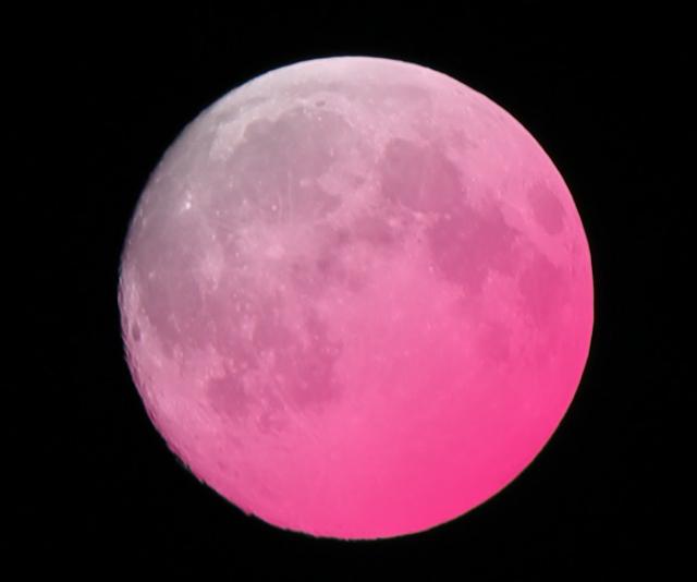 【今年最大の満月】4月7日深夜から8日未明は「スーパーピンクムーン」 / スーパームーンなピンクムーン